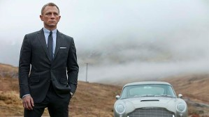 Daniel Craig's James Bond and Sean Connery's Aston Martin in Skyfall.